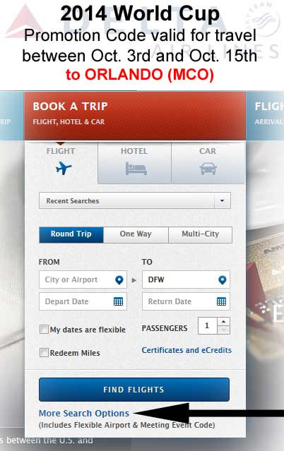 Flight-discount-promo-code-Delta-WORLDCUP